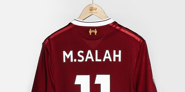 outlet store 9f076 d26bb Mohamed Salah shirt | Huge selection of Salah football shirts
