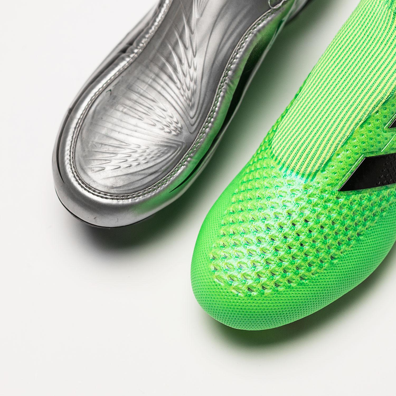 Skorna utan snörning Lotto Zhero Gravity och adidas Ace16+