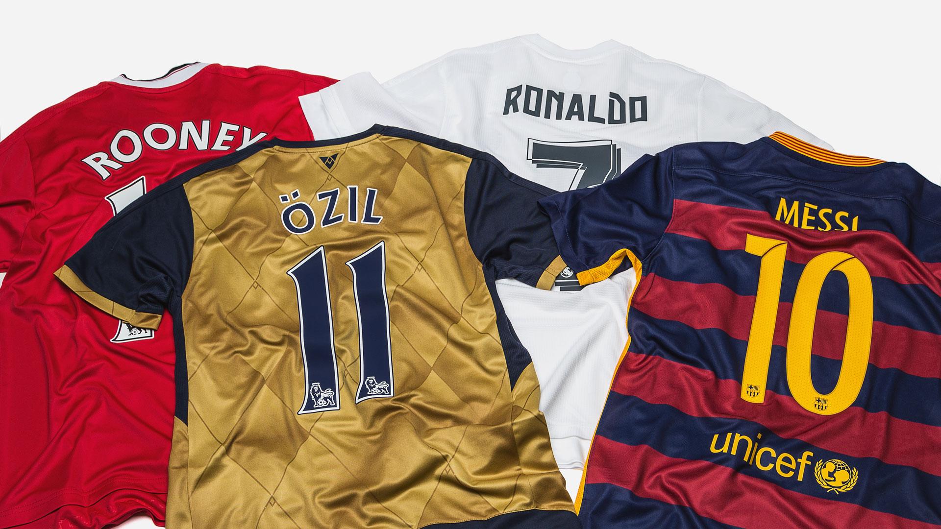 Gratis tryck på tröjor från Premier League, Real Madrid och