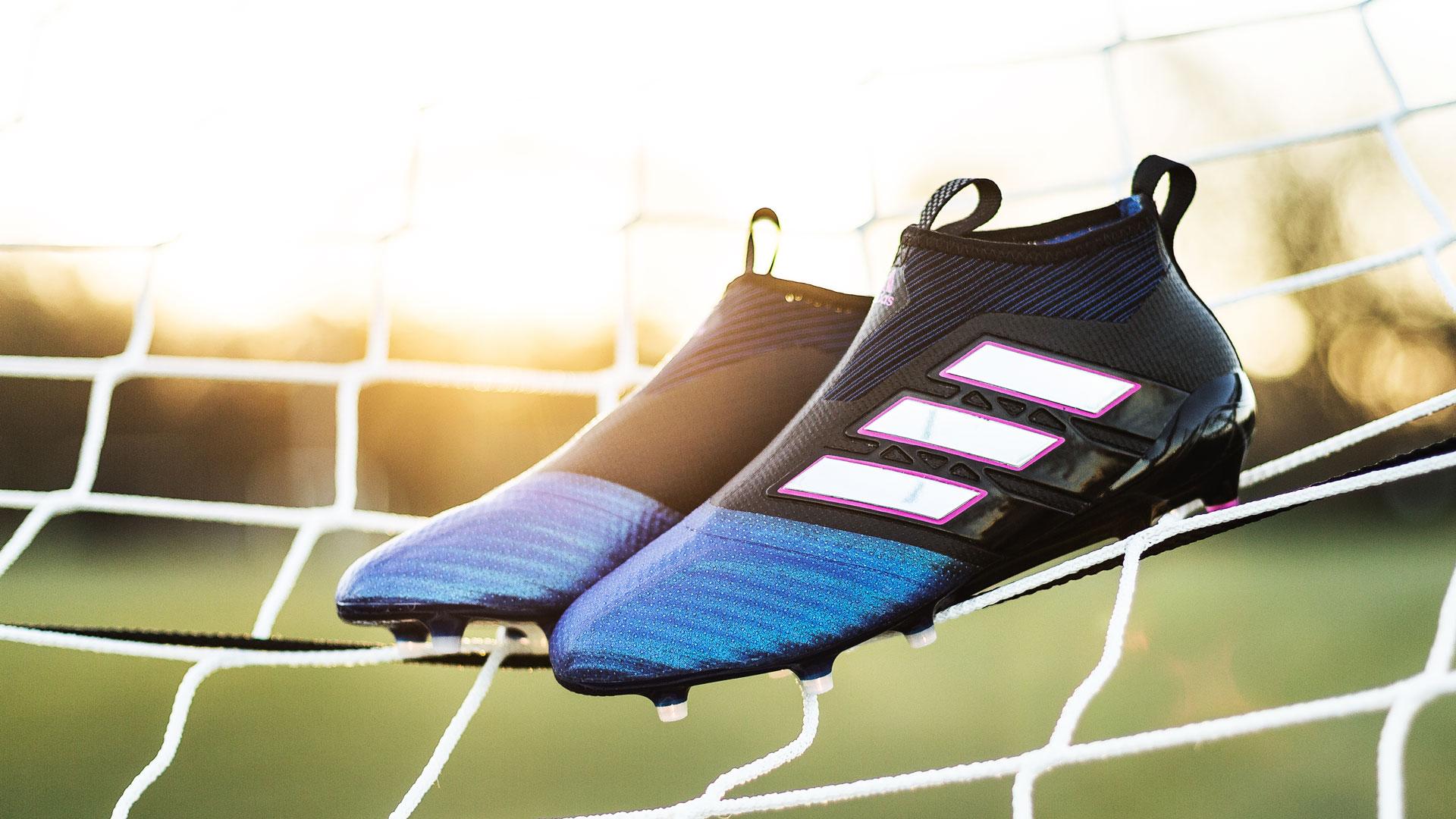 6333e921 bilde av adidas copa tango 17.1 indoor futsal pyro storm pack; adidas ace  17+ purecontrol blue blast ny sko til mesut Özil