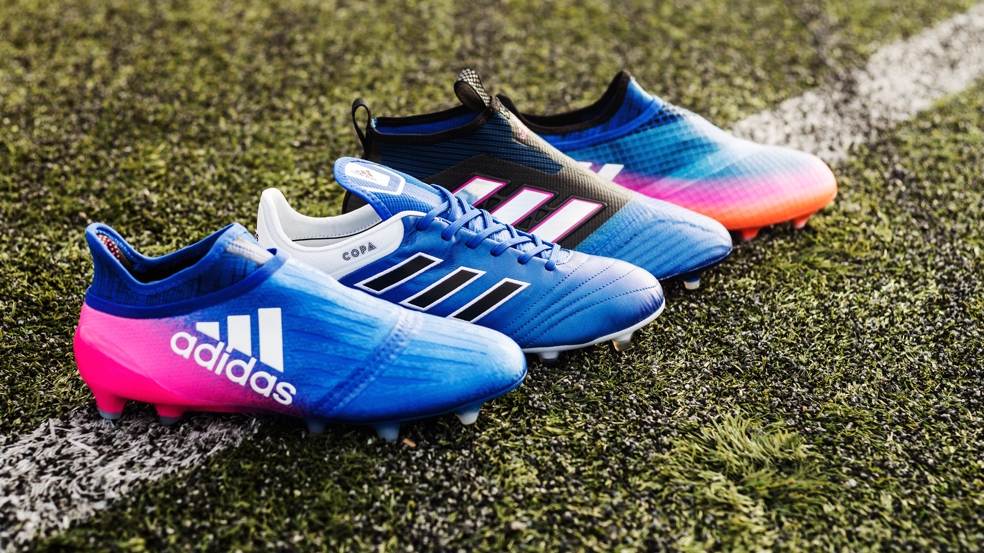 new product 893e7 38bbc adidas launch complete Blue Blast collection  New boots for the stars
