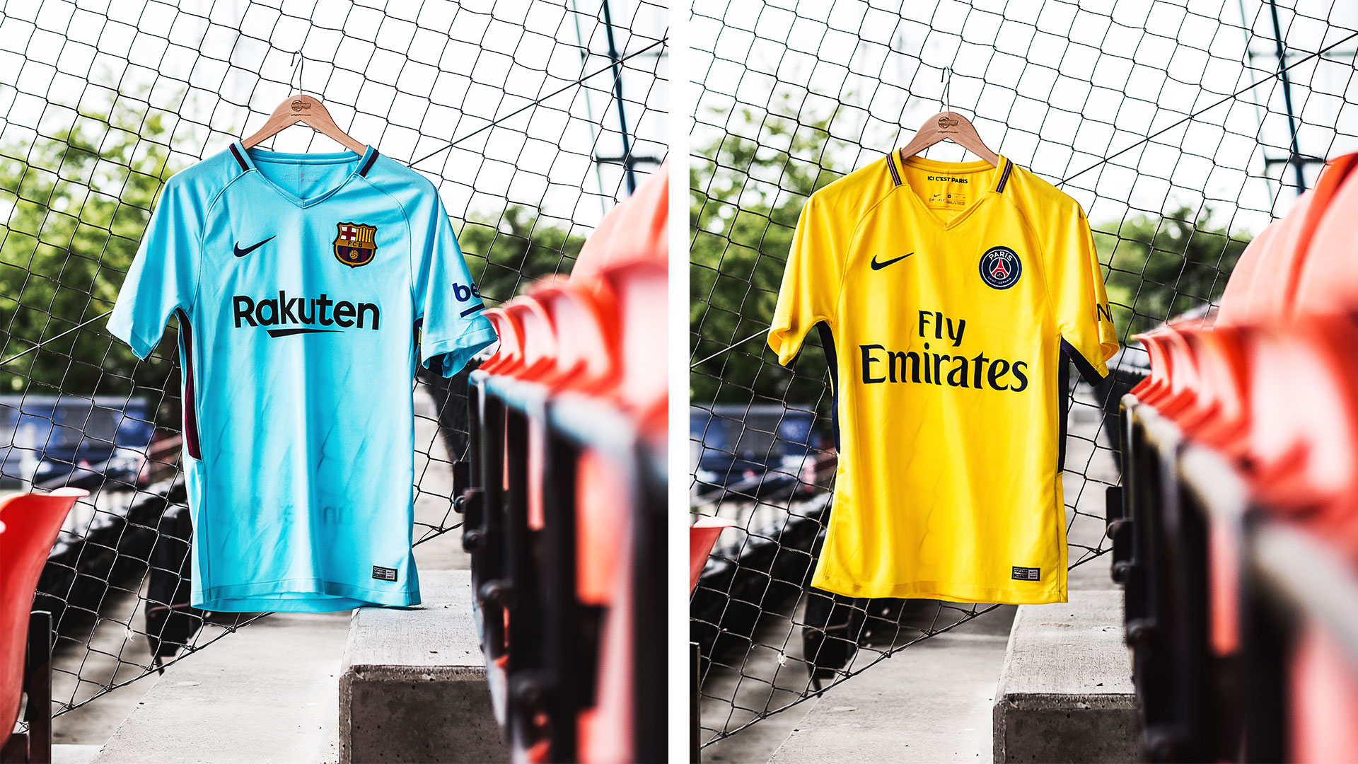 nike makes barca and psg ready for the away games in a colourful launch. 29.06.2017