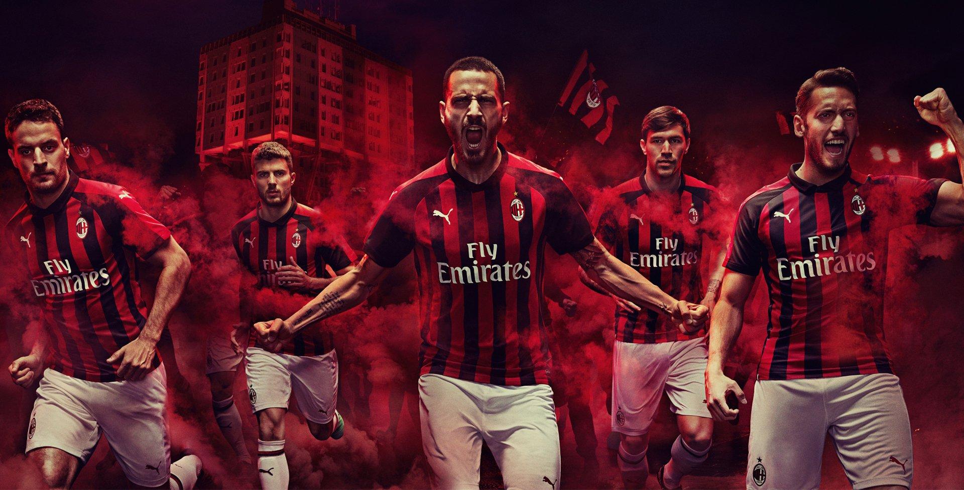 Ac Milan 2018 19 Home Shirt