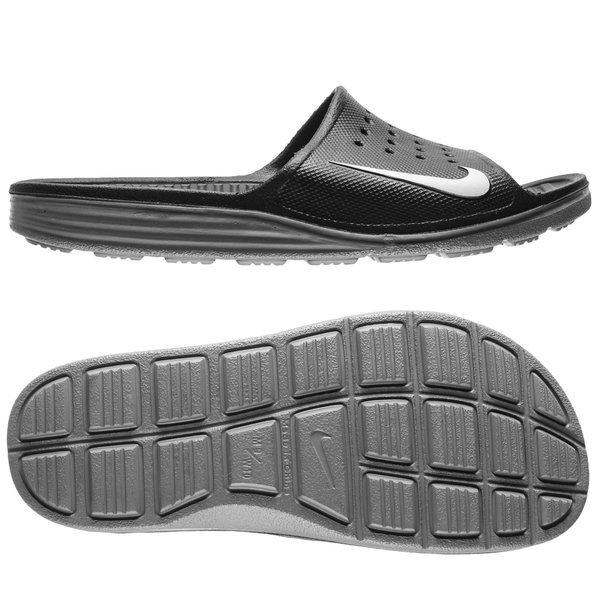 size 40 db138 66fda Nike Solarsoft Slide Black Grey   www.unisportstore.com