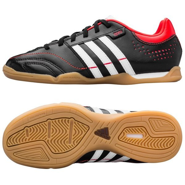 adidas Adipure 11Nova IN BlackHigh Resolution OrangeRunning White Kids