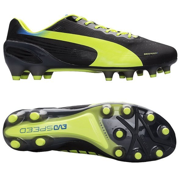 7f8a4c50d29 Puma evoSPEED 1.2 FG Black Fluo Yellow Brilliant Blue. Read more about the  product. - football boots. - football boots image shadow