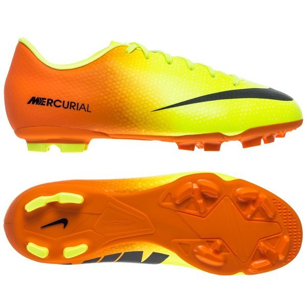 Nike Mercurial Victory IV FG Volt Black - Bright Citrus Kids. Read more  about the product. - football boots. - football boots image shadow 19fdca0089f91