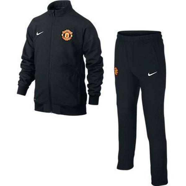 Manchester United Trainingspak Sideline Knit Zwart Kinderen