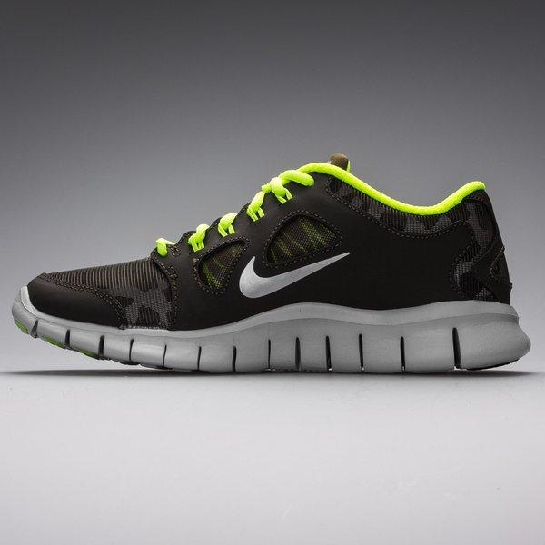 Nike Free Running Shoe 5.0 Shield (GS) Dark GreyVolt | www