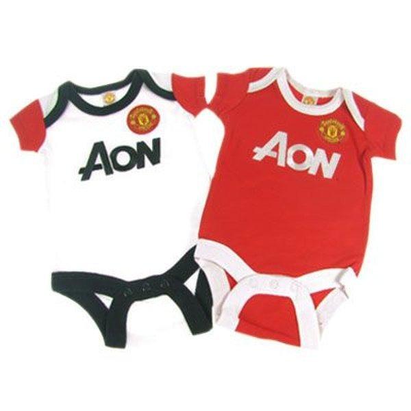 101e0ff59f9 Manchester United F.C. 2 Pack Bodysuit 3 6 mths