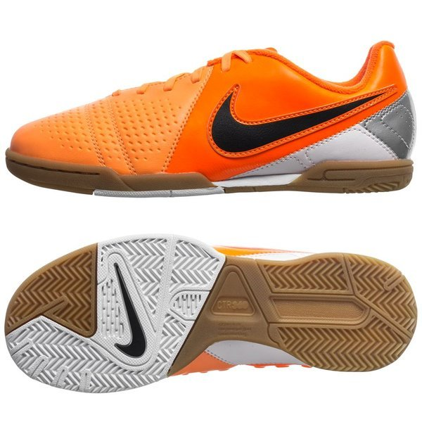 9c246dad496 Nike CTR360 Libretto III IC Atomic Orange Black Metallic Silver Kids ...