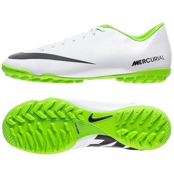 nike mercurial victory iv tf white black electric green ... 406f0dacc2b3b