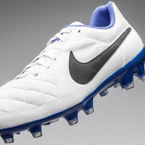 8cf995a4c67 Nike Tiempo Genio FG White Black Treasure Blue