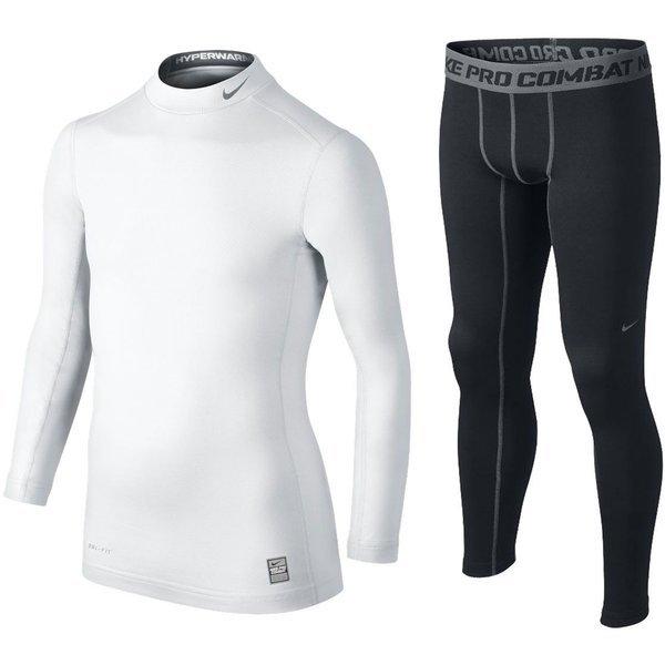 Nike Pro Compression Mock LÄ VitSvart