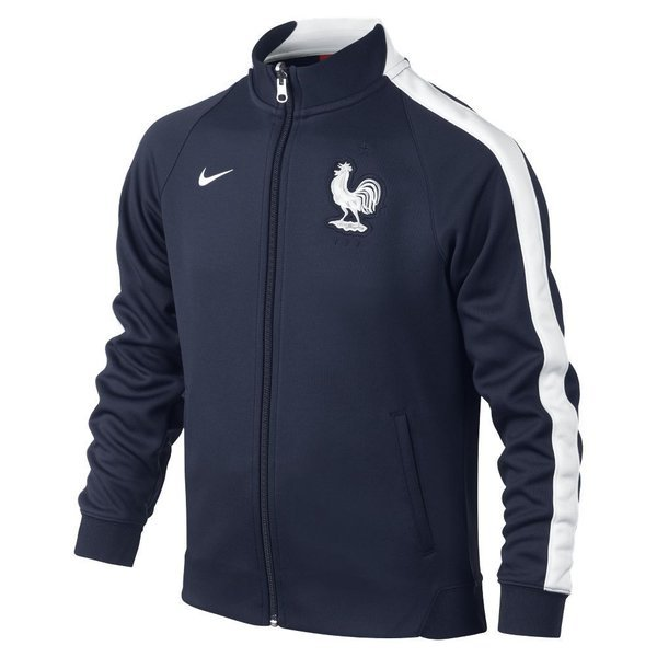 f87d1f9e4b Nike France Track Jacket N98 Authentic Midnight Navy White Kids ...