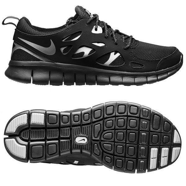 watch df8fb 78a00 Nike Free Running Shoes Run 2.0 GS Black Kids | www ...