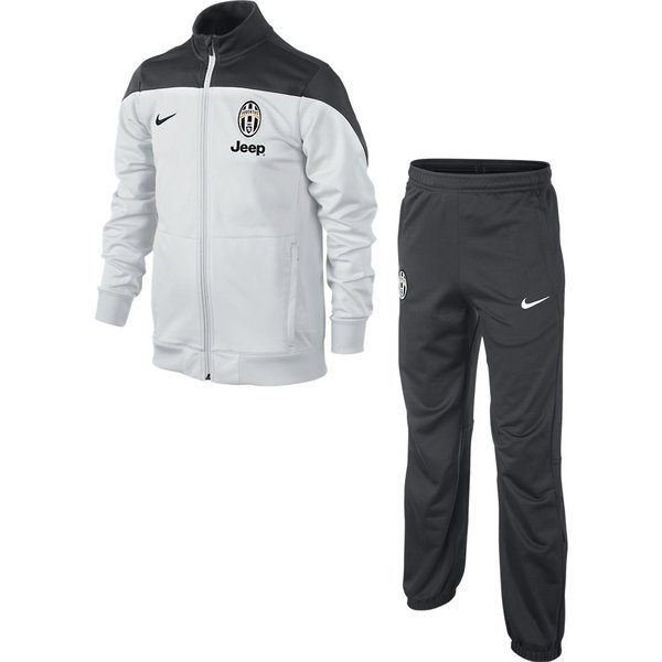 fbca293f6 Juventus Tracksuit Squad Sideline Woven White Grey Kids
