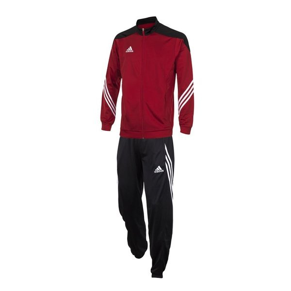full red adidas tracksuit
