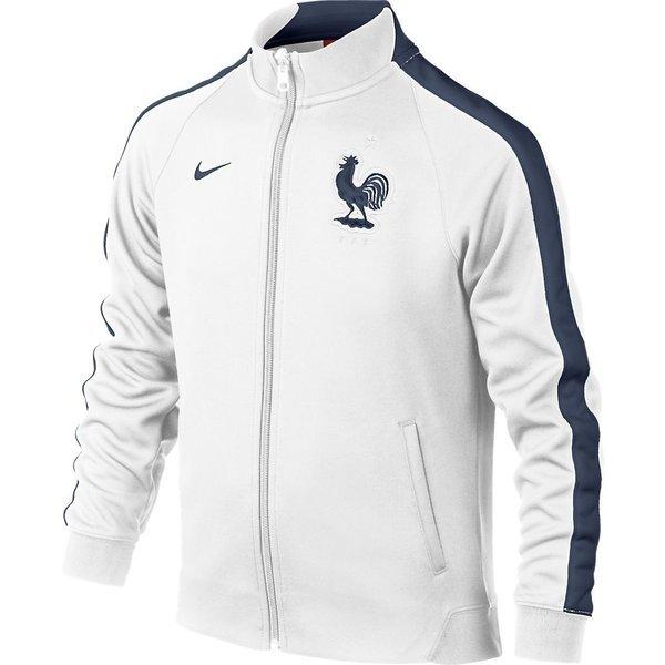 660746c315 Nike France Track Jacket N98 Authentic White Midnight Navy Kids ...