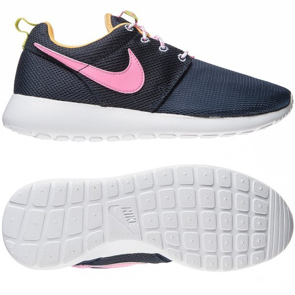bd5b5e624756 Nike Roshe Run GS Navy Pink Kids