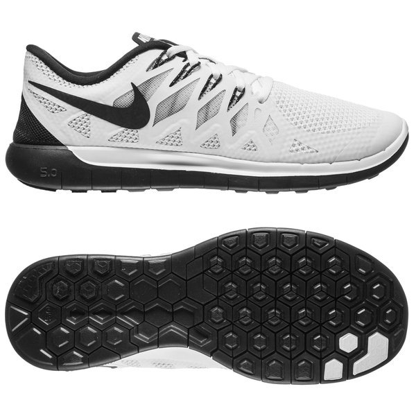 e36672345db0 Nike Free Running Shoes 5.0 White Black Pure Platinum Women