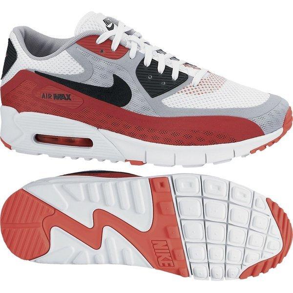 hvit og rød nike air max 90