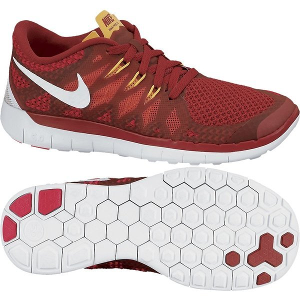 ce0a622258 Nike Free Running Shoe 5.0 (GS) Gym Red Lite Crimson Kids