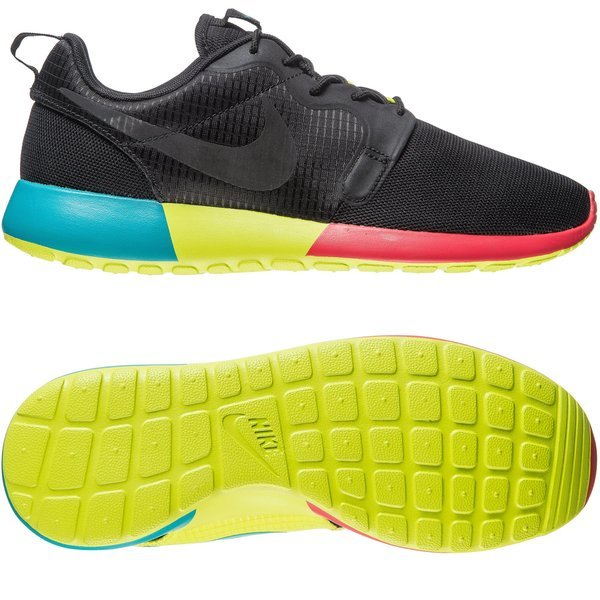cheap for discount c8696 de51b Nike Roshe Run Hyperfuse Black Turbo Green Venom Green Women. Read more  about the product. - sneakers. - sneakers