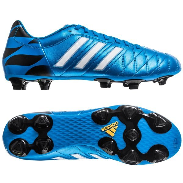 21a1bd776 adidas 11Questra FG Solar Blue Running White Black