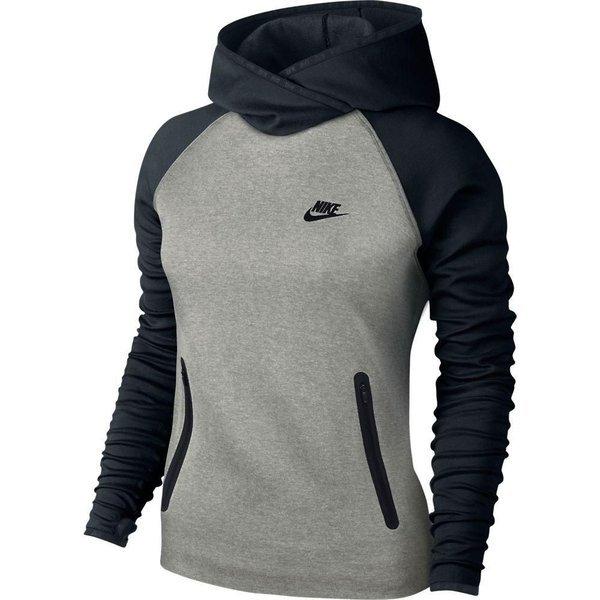 Nike Hættetrøje Tech Fleece Funnel GråSort Dame