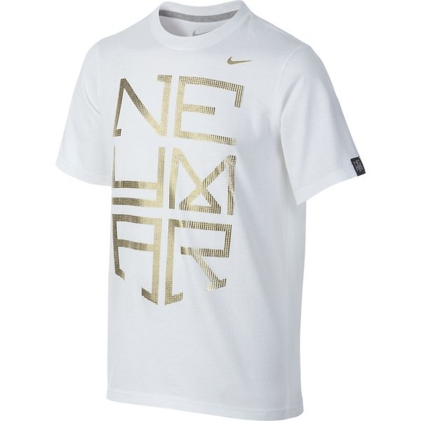 3d71dd4f9b55 nike t-shirt neymar jr. white gold ...