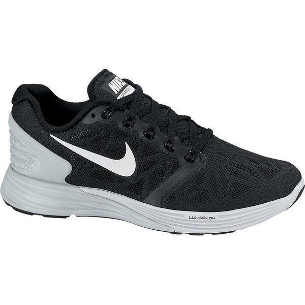 Nike Running Shoe Lunarglide 6 (GS) Black Platinum Grey Kids  1811176dc