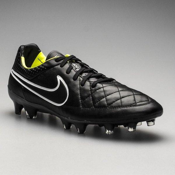 Nike Tiempo Legend V FG Soccer Cleats Black and Volt
