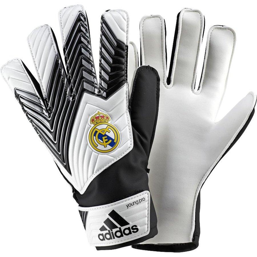 adidas Goalkeeper Glove Real Madrid White/Black Kids   www ...