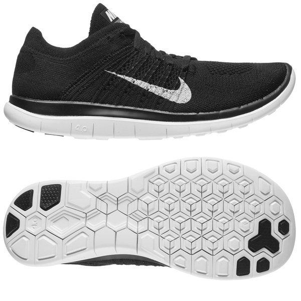 Nike Free Hardloopschoenen Flyknit 4.0 ZwartWit Vrouwen