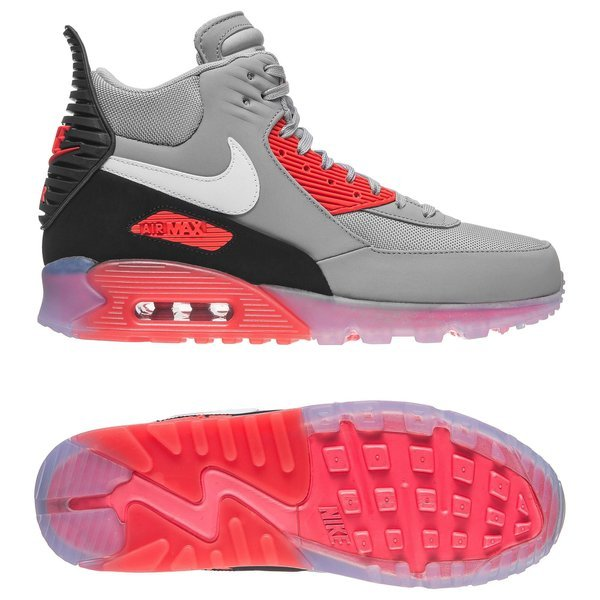 finest selection 6715d f66f1 Nike Air Max 90 Sneakerboot Grey/Red