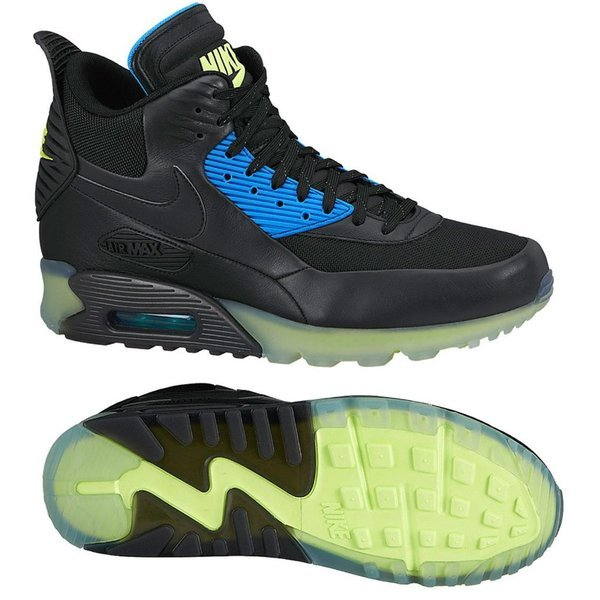 sports shoes 67909 84867 Nike Air Max 90 Sneakerboot Ice BlackBlue. Read more about the product. -  sneakers. - sneakers image shadow