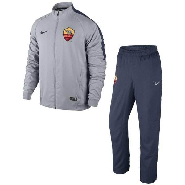 timeless design ef351 8d92b Roma Tracksuit Squad Sideline Woven Warm Up Grey/Blue   www ...