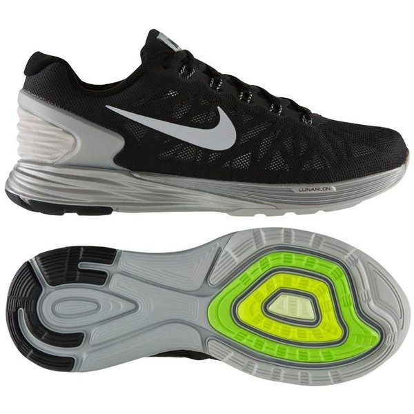 new concept 0d619 9a502 Nike Running Shoe Lunarglide 6 Flash Black Reflective Silver Women    www.unisportstore.com