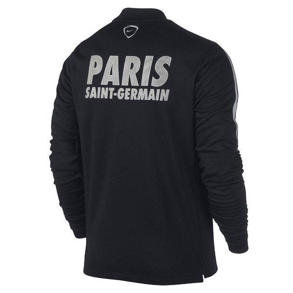 paris saint germain training t shirt squad pre match l s black grey. Black Bedroom Furniture Sets. Home Design Ideas