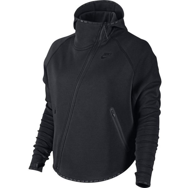 23b18815 Nike Hættetrøje Tech Fleece Butterfly FZ Sort Dame | www ...
