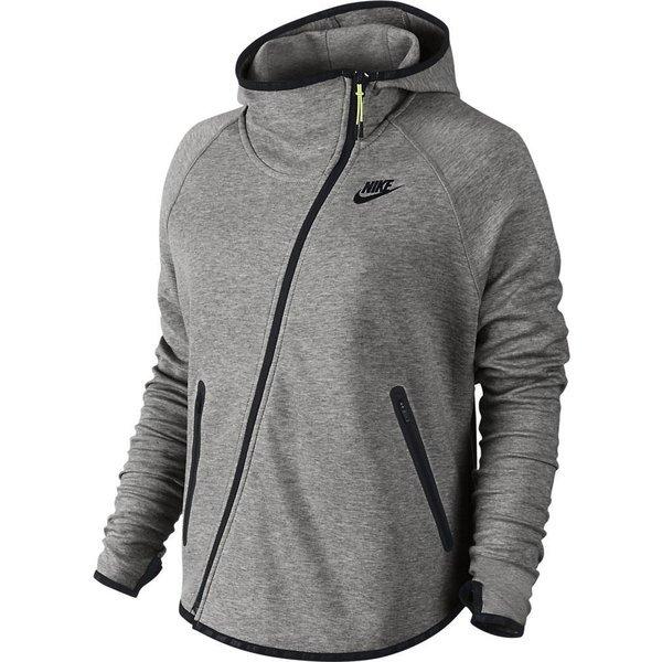 Nike Kapuzenjacke Tech Fleece Butterfly FZ Grau Damen | www ...