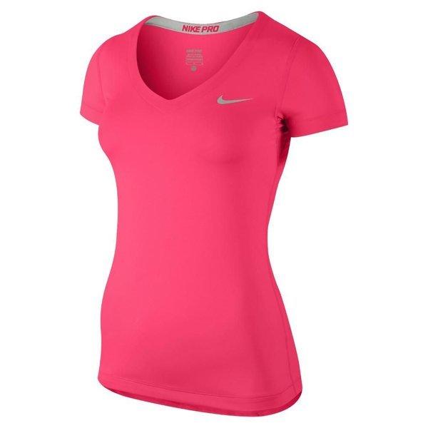 7baeaa43 Nike Pro T-Shirt V-Neck Pink Dame   www.unisportstore.no
