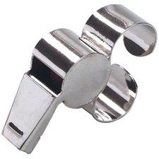 Select dommerfløjte produceret i metal. Fløjten er lavet med smart fingergreb, som gør den nem at holde på.