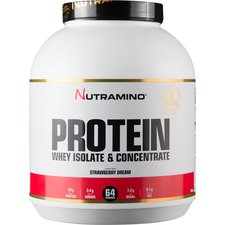 Image of   Nutramino Whey Isolate Protein Jordbær 1,8 kg.