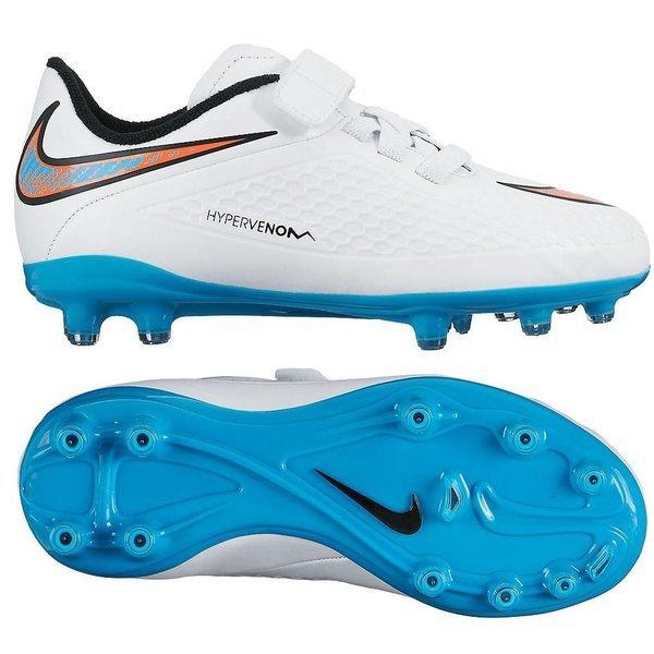 the best attitude 36e54 67690 Nike - Hypervenom Phelon FG Vit Blå Orange Barn. Läs mer om produkten. -  fotbollsskor. - fotbollsskor image shadow