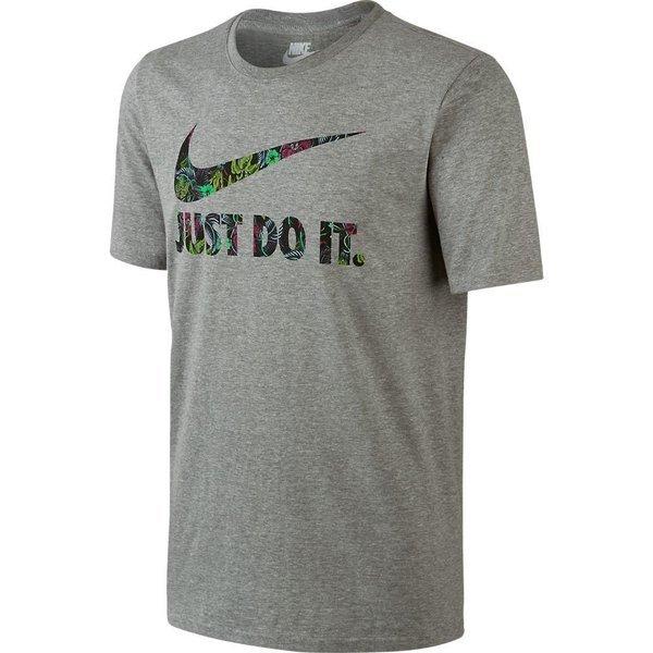 Nike T Shirt 'Just Do It' Swoosh Floral GråGrøn