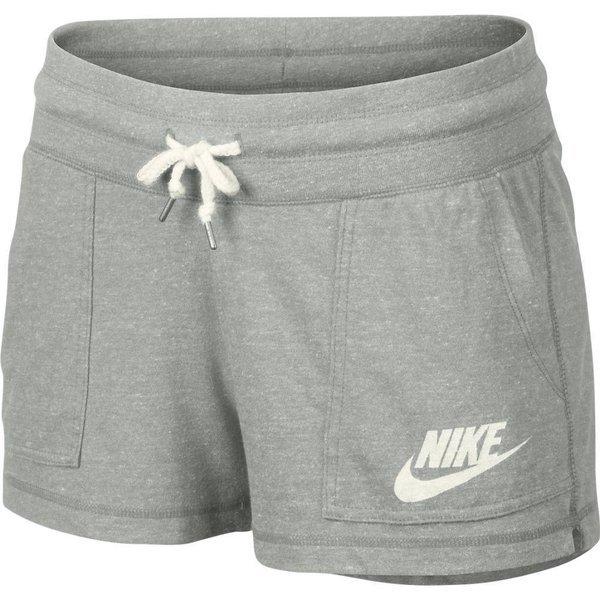 Nike Shorts Gym Vintage GråHvid Dame