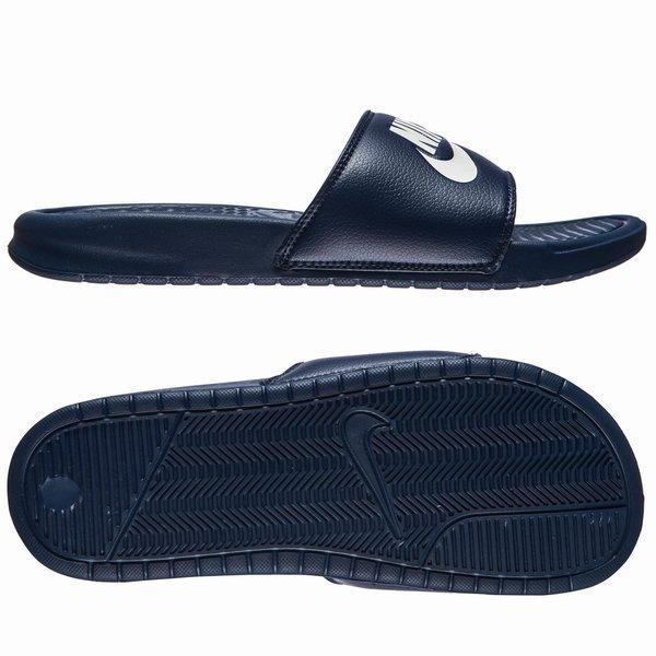 Nike Sandales Benassi JDI Bleu Marine/Blanc