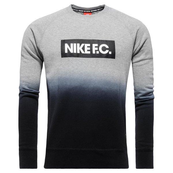Aw77 Ls Nike c Crew Gråsort Sweatshirt F twtZBqz